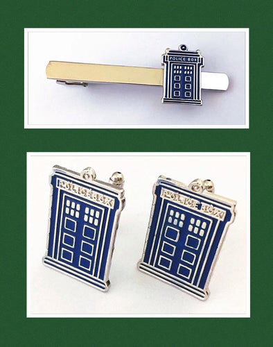 Wibbly Wobbly Tie Clip and Cufflinks 1