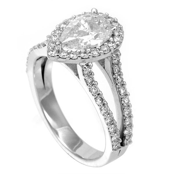 Split Shank Engagement Ring with Round Diamonds