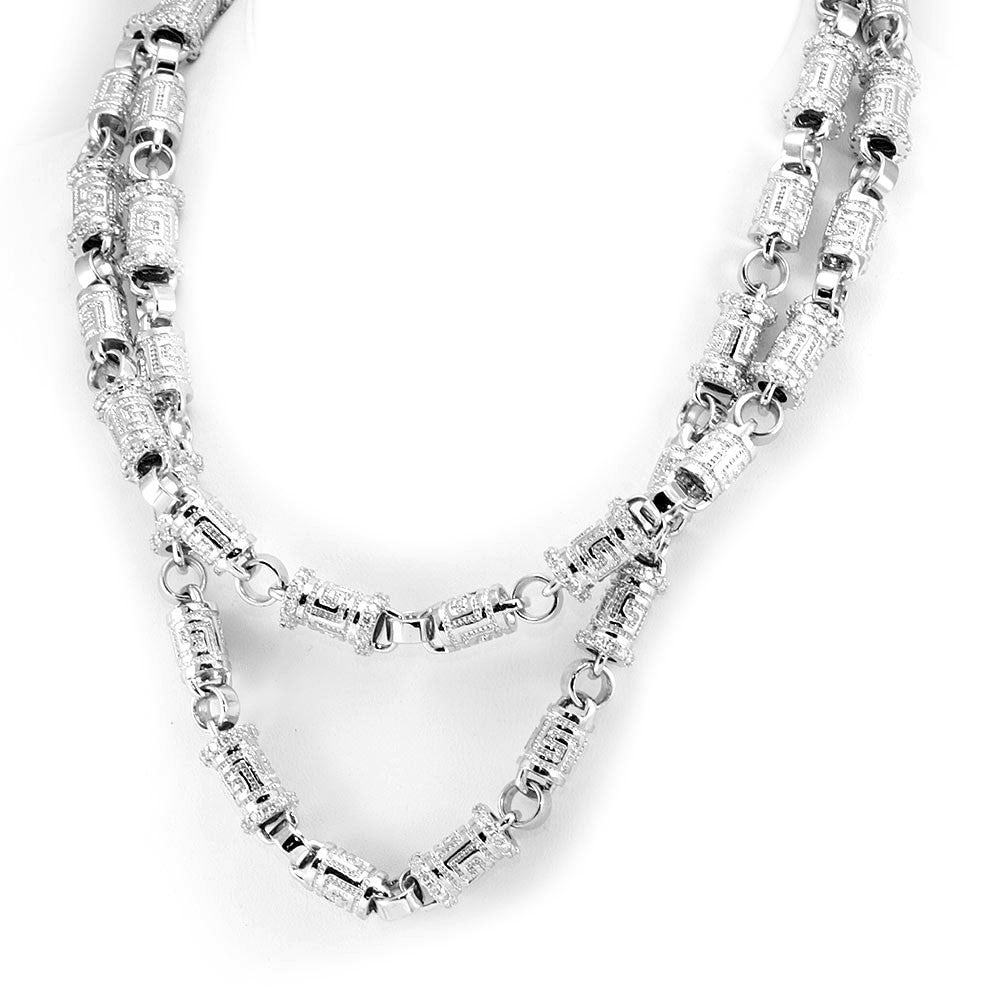Diamond Link 14K White Gold Chain Necklace
