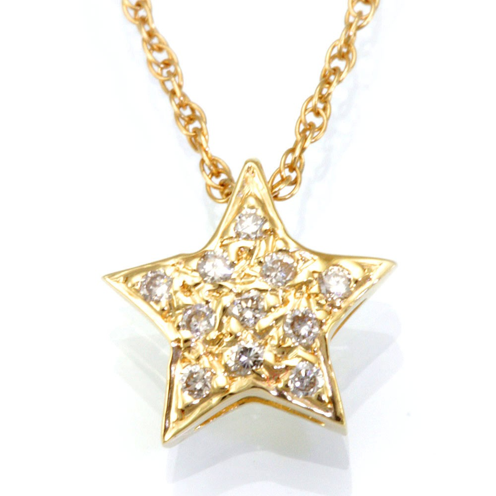 Star Diamond Pendant in 14K Yellow Gold