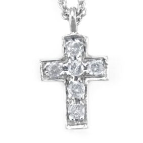 Cross Diamond Pendant in 14K White Gold