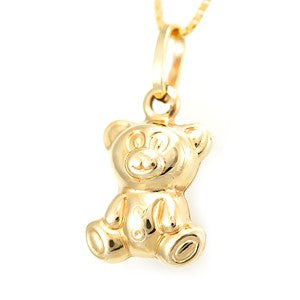 Teddy Bear in Solid 14K Yellow Gold