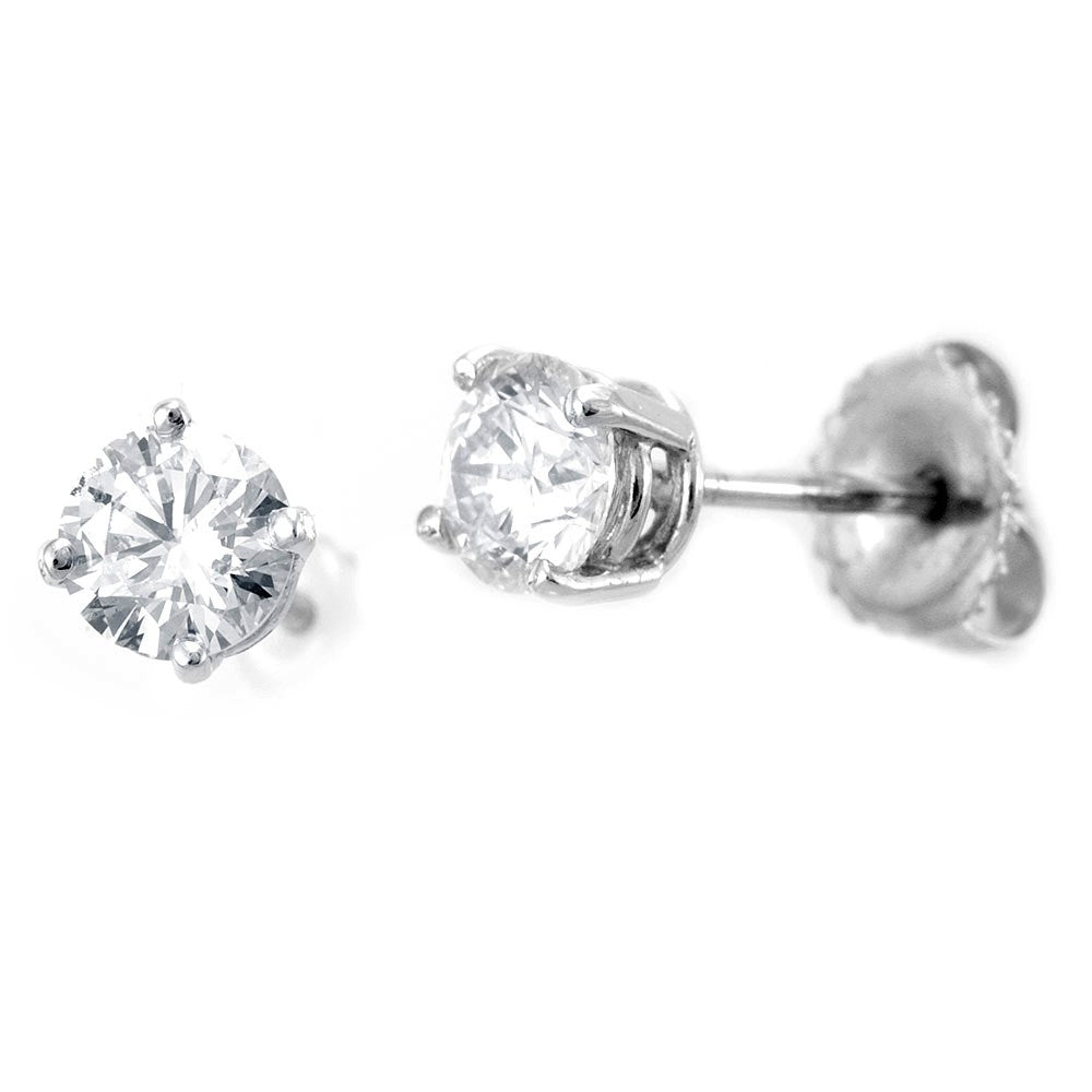 STUD ROUND 0.75ct/pair