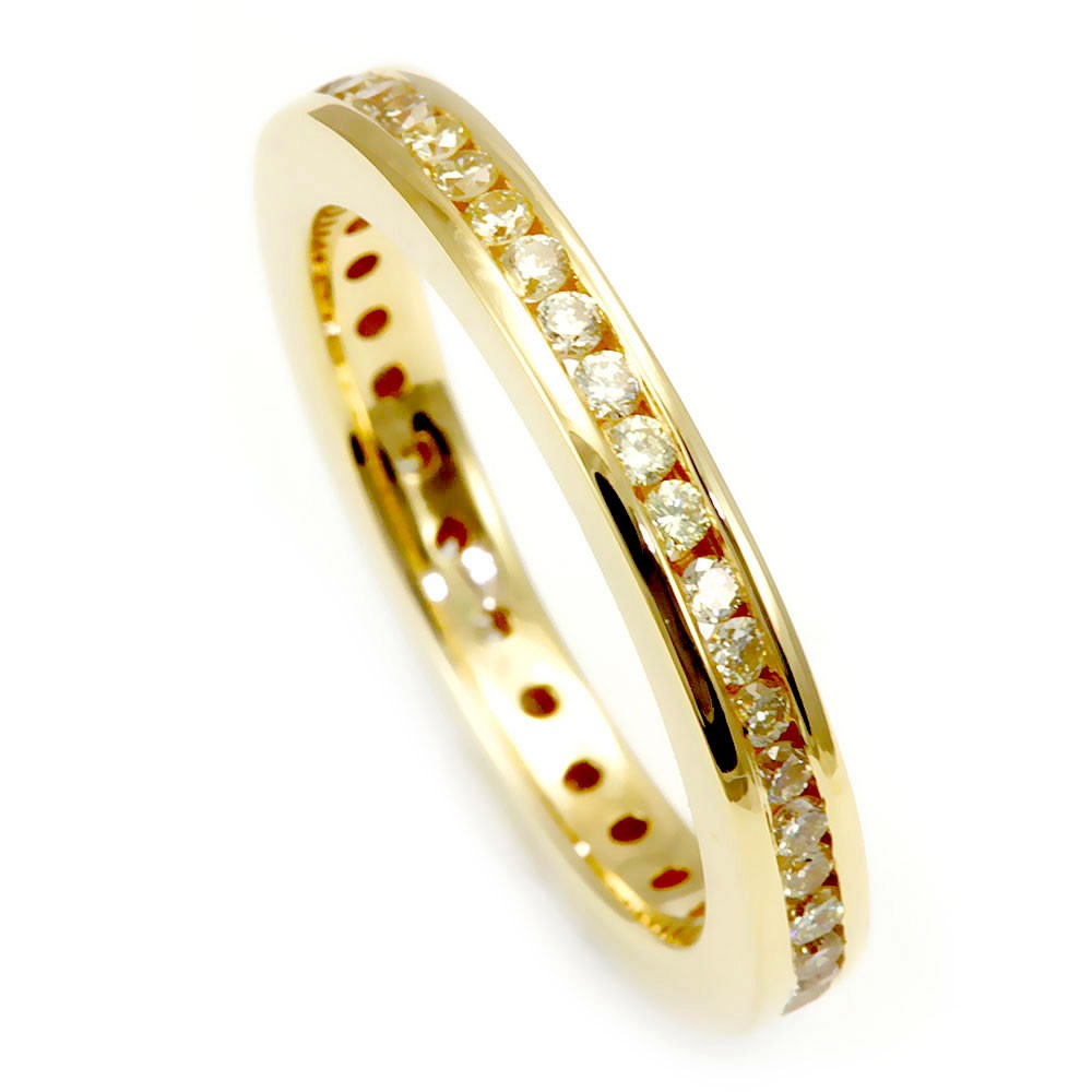 Eternity Ladies Band with Round Diamonds in 14K Yellow Gold