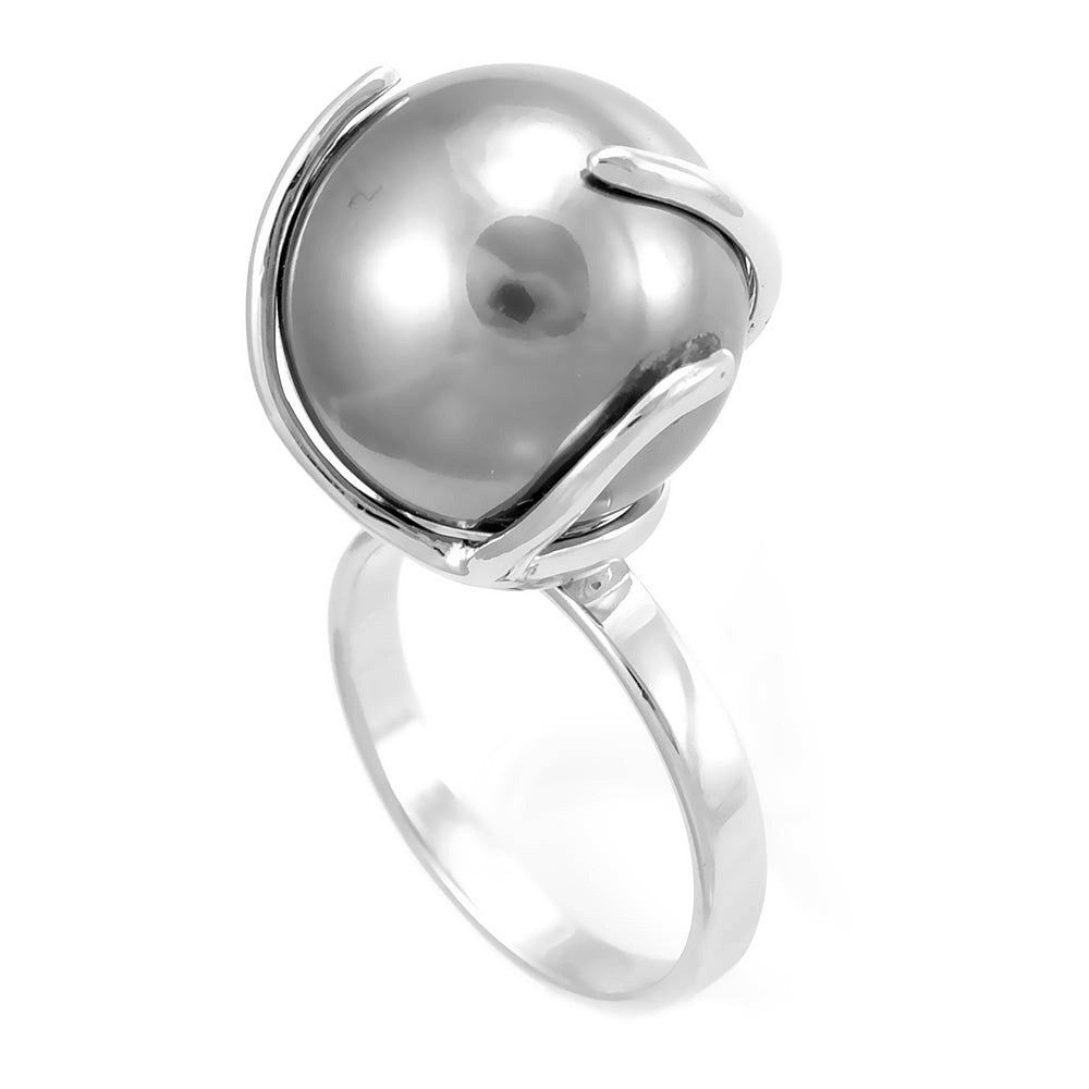 Pearl Ladies Ring in 14K White Gold