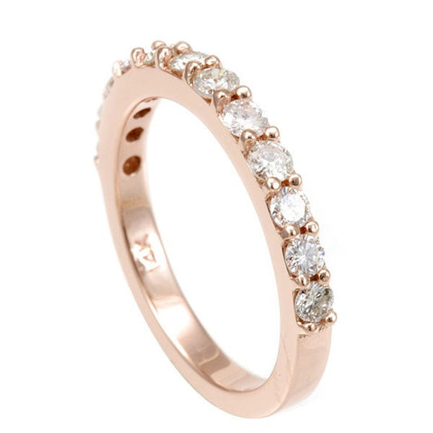 14K Rose Gold Diamond Ladies Band