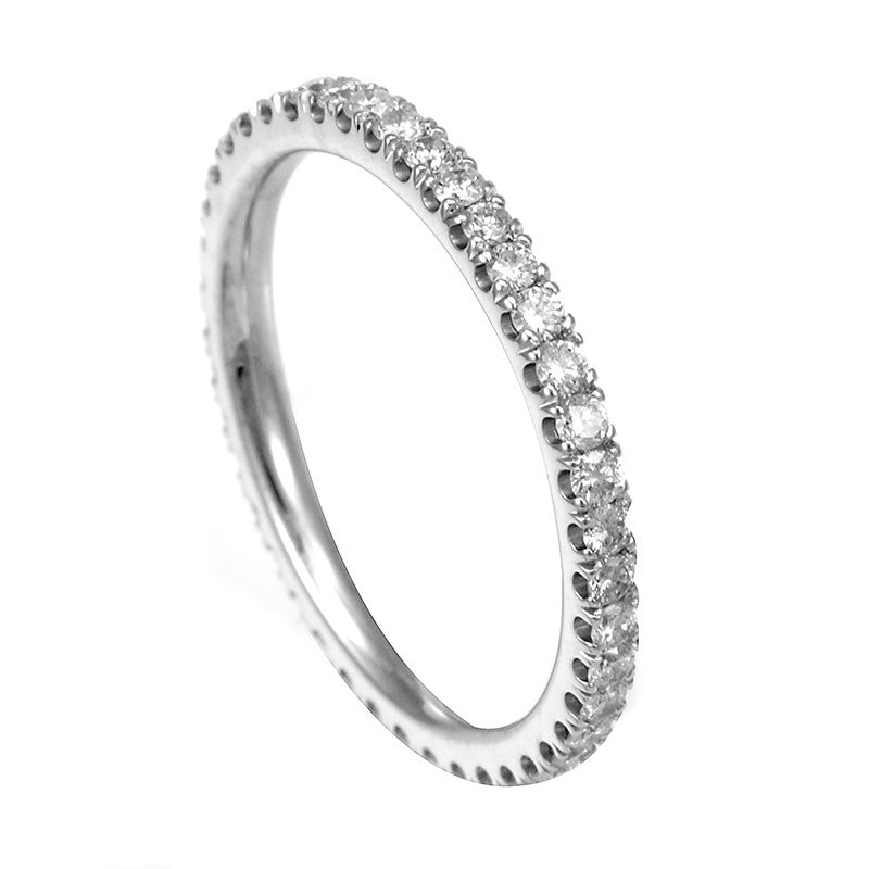 U Prong Diamond Eternity Band in 14K White Gold