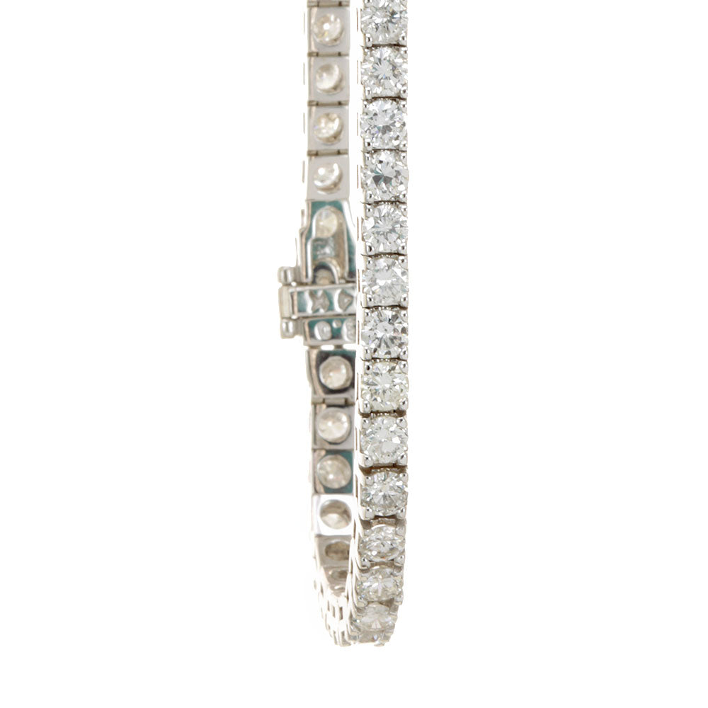 Diamond Tennis Bracelet, 14K White Gold Ladies Bracelets, Ladies Fine Jewelry