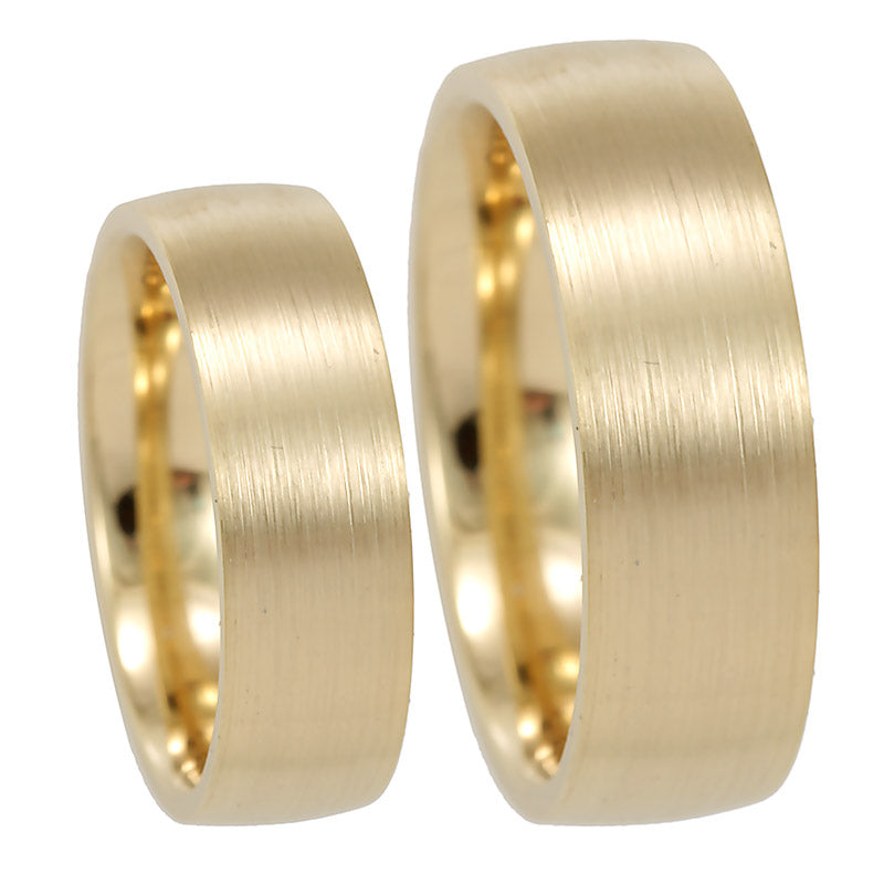 14K Yellow Gold Comfort Fit Wedding Band, Flat Wedding Band