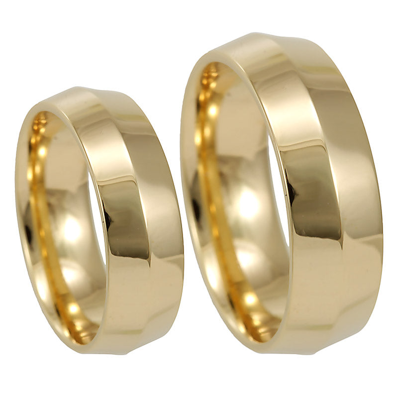 14K Yellow Gold Comfort Fit Wedding Band, Plain Wedding Band
