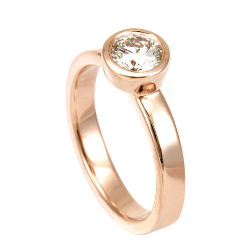 Diamond engagement ring ,Proposal Ring, 14K Rose Gold, Engagement Ring, Bridal Ring