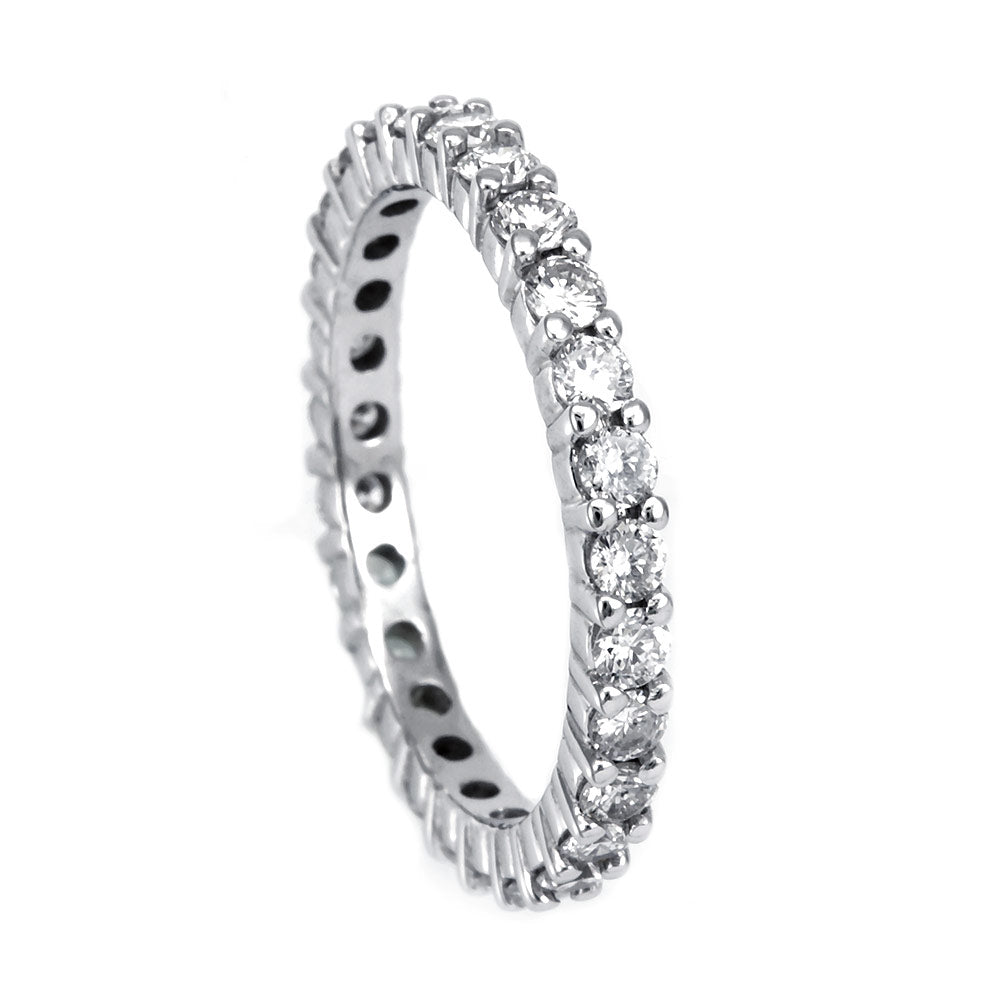 Diamond Eternity , Forever Band in 14K White Gold