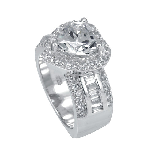 Heart Halo Diamond Engagement/Proposal Ring in 14K White Gold