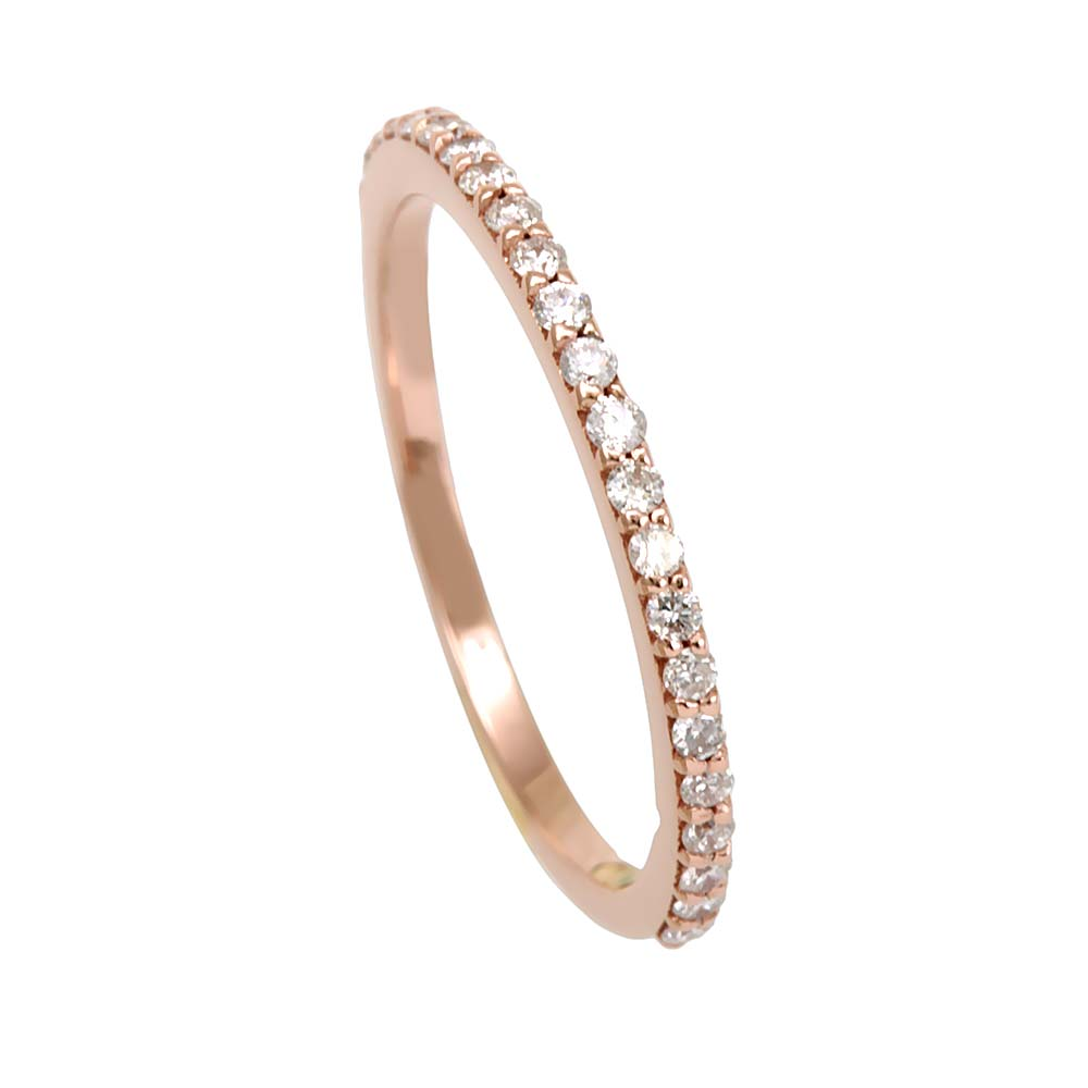 Semi Eternity Diamond Band in 14K Rose Gold