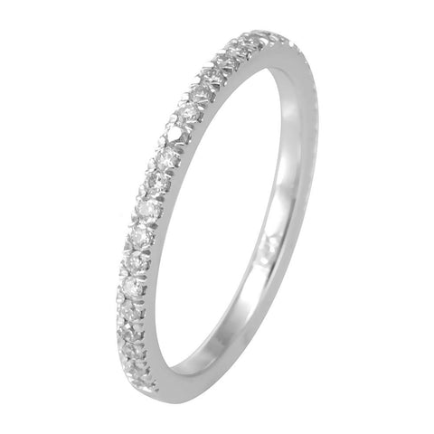 Copy of Eternity Band with Round Diamond in 14K White Gold