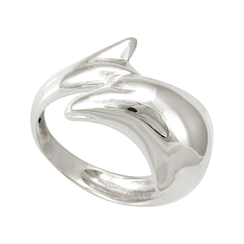 Dolphin Design Sterling Silver Ladies Band, Fashion Ladies Silver Ring, Dolphin Ring