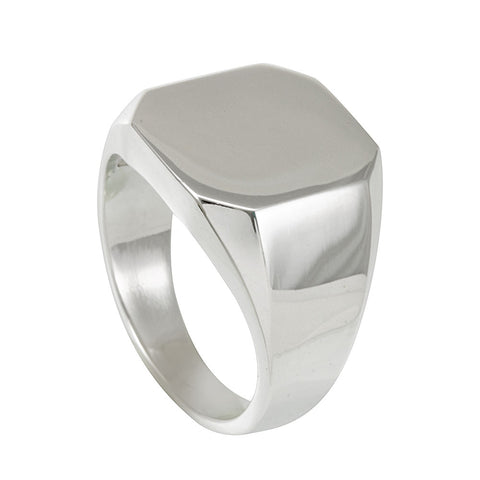 Signet Sterling Silver Ring, Men's Silver Ring, Signet Ring