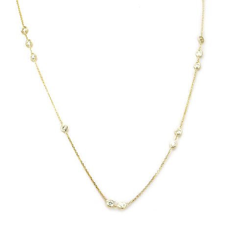 Diamond By the Yard 14K Yellow Gold Necklace