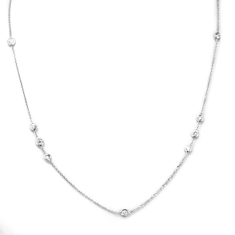 Diamond by the yard Necklace in 14K White Gold
