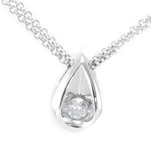 Pear Shape Diamond Pendant in 14K White Gold