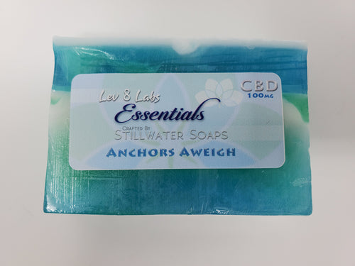 Artisan CBD Soap by Stillwater Soaps - Anchors Aweigh, 100mg CBD, 5oz