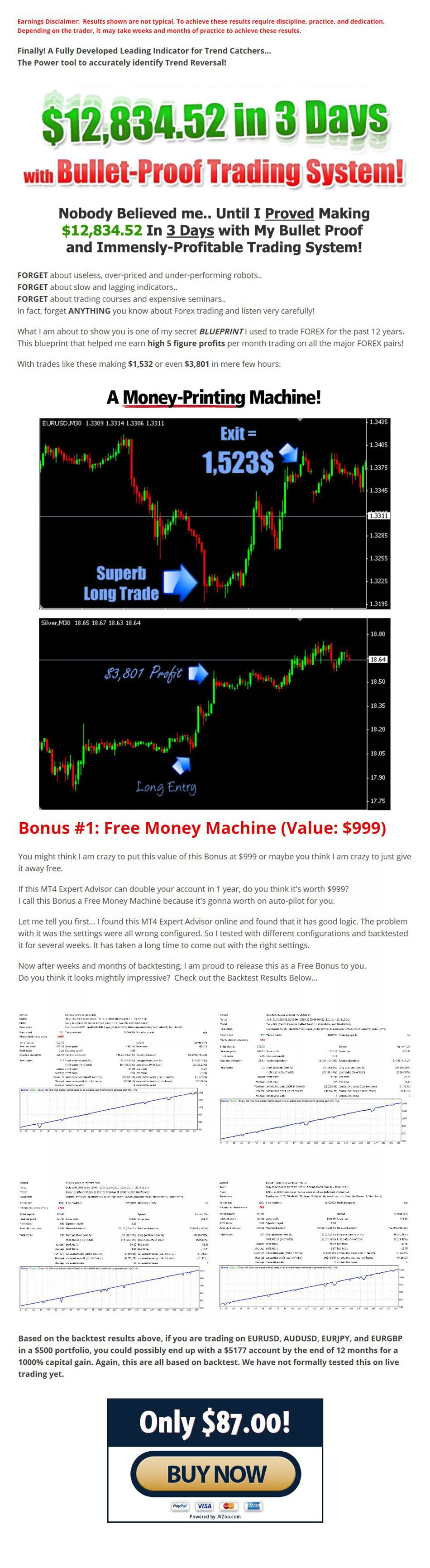 Super Forex Launcher with Free Money Machine EA