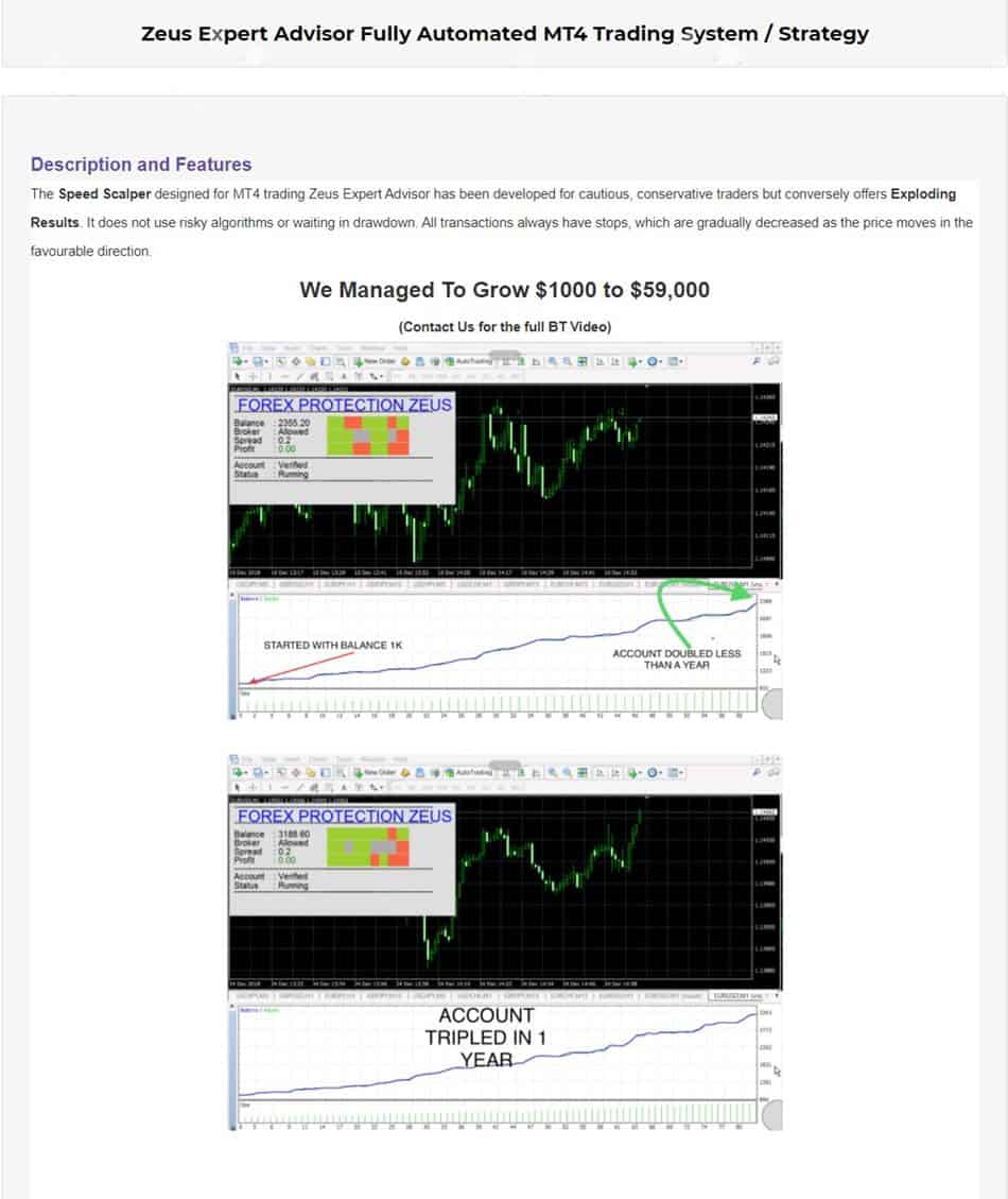 www.ebay.com/itm/Zeus-Expert-Advisor-Fully-Automated-MT4-Trading-System-Strategy/174135980180  Original Price:  $645  Content: Expert: FOREX-PROTECTION-ZEUS.ex4 (Unlimited), Document: Pair and Timeframe.txt
