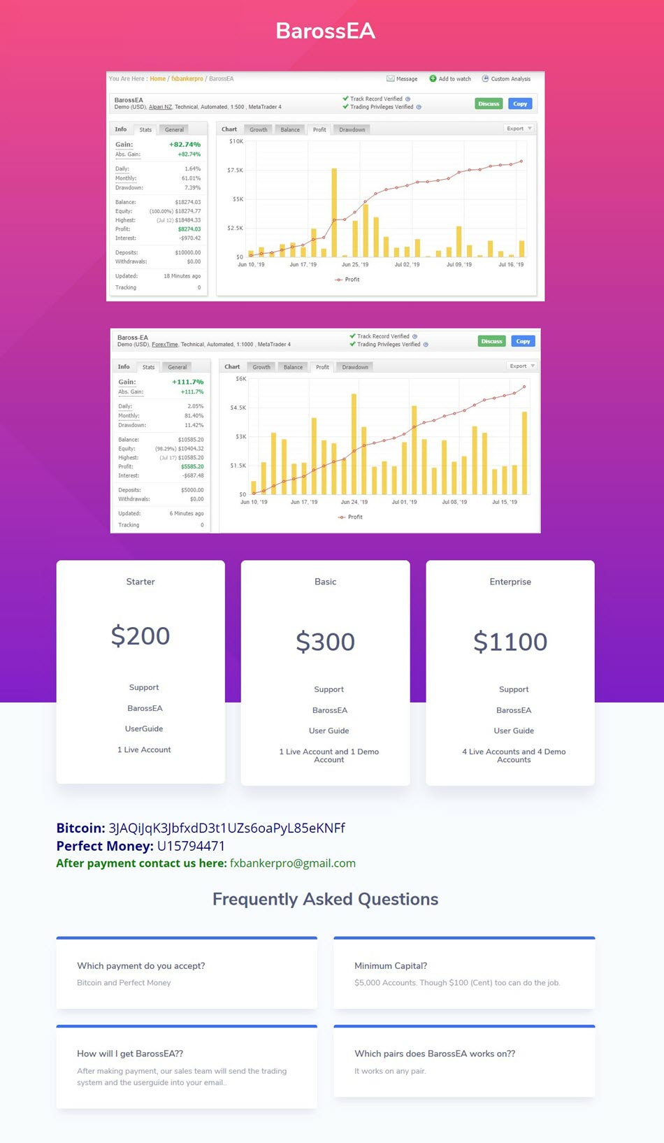 www.fxbankerpro.com/barossea Original Price $1100 Expert: BarossEA.ex4 (Unlocked) Document: readme.txt  Monitoring: https://www.myfxbook.com/members/fxbankerpro/baros... https://www.myfxbook.com/members/fxbankerpro/baros...