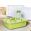 Multi-functional Kitchen Vegetable Fruit Drain Basket Snack Plate Double-layer sieve Green 2442-G Alhamra ALHAMRA