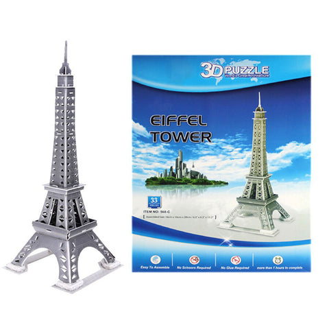 33PC DIY Kid's Puzzle Toy 3D Stereo Eiffel Tower Model DIY Assembled Plaything 568-C - Eiffel Tower - 5015 Alhamra ALHAMRA