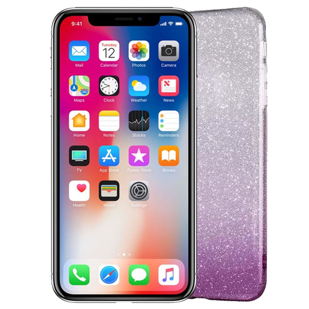 Gradient Dreamy Stars Shine Jelly Fancy Back Cover for iPhoneX Alhamra ALHAMRA