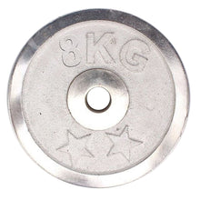 Load image into Gallery viewer, Weight Metal Plate - 8 KG - Silver 8155-8-k Alhamra ALHAMRA