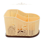 5 Grids Multi-Purpose Desktop Organizer Storage Basket Tabletop Small Objects Container Plastic - Multicolour - 2464 AL-Hamra ALHAMRA
