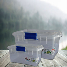 Load image into Gallery viewer, Pack of 2 Klip It Food Storage Container Set Plastic Airtight Lids with Colorful Easy locking clips Microwave Freezer Dishwasher Safe - 7201 AL-Hamra ALHAMRA