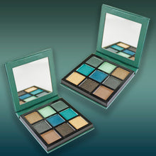 Load image into Gallery viewer, 9Pcs mini diamond Palette Classic Lady Makeup kit high Quality-Green Alhamra ALHAMRA