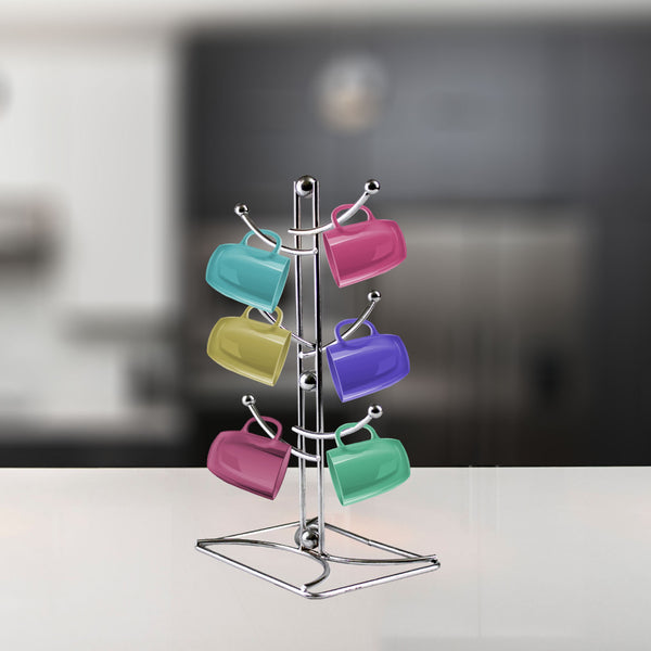 Modern style 6 layer kitchen Rack Holder stand for Mug Glass Cup-Organizer Alhamra ALHAMRA