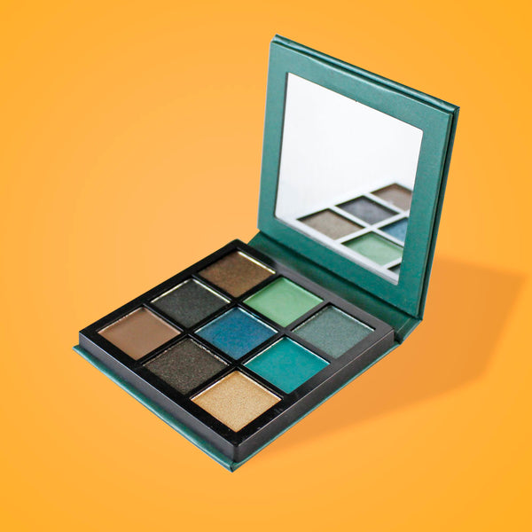 9Pcs mini diamond Palette Classic Lady Makeup kit high Quality-Green Alhamra ALHAMRA