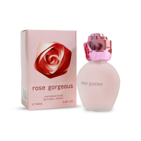 Rose Gorgeous Vaporisareur Natural Rose Giacee Perfume Spray for Her-Pink 2434 Alhamra ALHAMRA