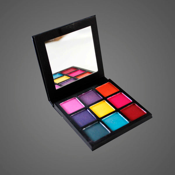 9Pcs mini diamond Palette Classic Lady Makeup kit high Quality-Black Mixed Alhamra ALHAMRA