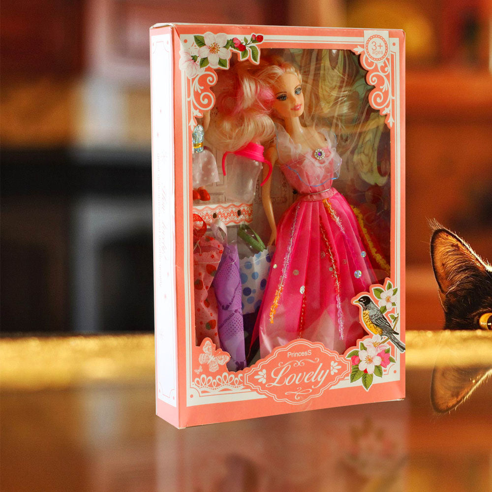 New Fashion Lovely Princess Doll Gift Pack with Ultimate Dressup Alhamra ALHAMRA