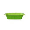 Multi-functional Kitchen Vegetable Fruit Drain Basket Snack Plate Double-layer sieve-Green 2442G Alhamra ALHAMRA