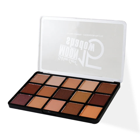 Super pigmented Mix and match 15 Color Makeup Eye shadow palette- Multi Colors 2420 Alhamra ALHAMRA