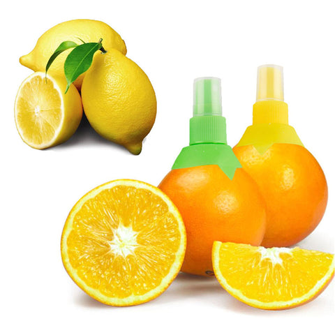 High Quality 2pcs / set Lemon Orange Fruit Juice Sprayer Citrus Lime Juicer Spritz Creative Kitchen Spray Gadget Yellow 7197 AL-Hamra ALHAMRA