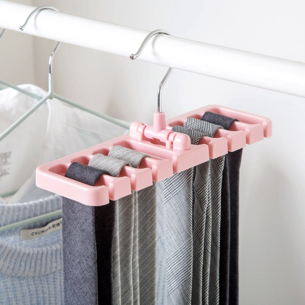 Rotating Tie & Belt Scarf Storage Hanger - Multicolor