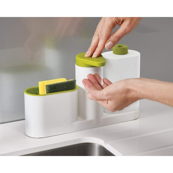 Soap Dispenser with Sink Storage Organiser Sink Tidy Sey Plus with 3 Compartments