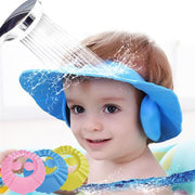 Adjustable Baby Kid Toddlers Hair Wash Hat Shampoo Bath Bathing Shower Shield Guard Baby Shield Ear Protection Cap boy - Blue