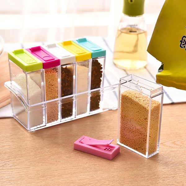 Seasoning Acrylic Spice Rack Set - 6 Racks