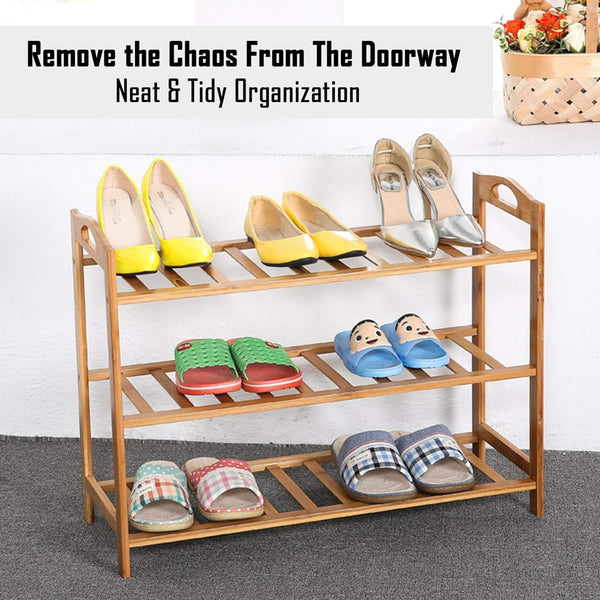 3 Layer Book Shelf / Shoe Rack with Handles