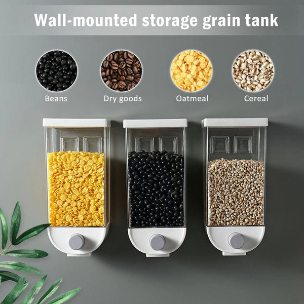 1 Piece Wall Mounted Food Storage Container Dispenser - 1.0 liter