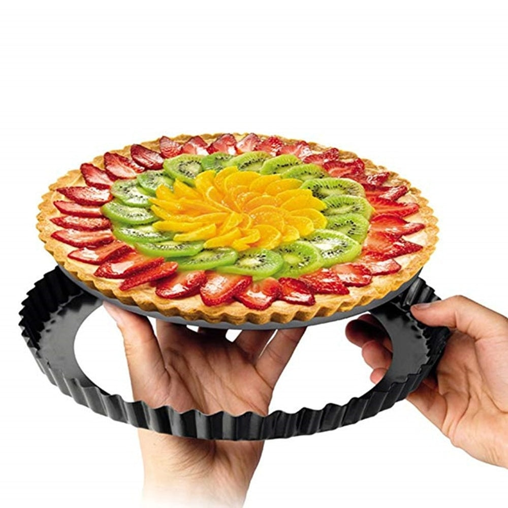 Pack of 3 - Round Removable Pizza Pie Cake Pan Tart and Serving Dish